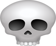 Skull Emoji Png apple hd high resolution