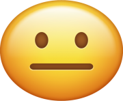 Neutral Emoji Png transparent background