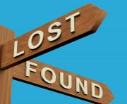 sign lost and found clipart