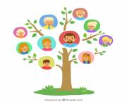 tree with genealogical family