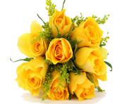 Yellow Flowers Bouquet Flowers Png Photos