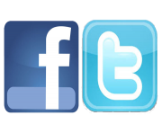 Facebook Logo and Twitter Logo Png Transparent