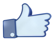 Facebook Like 3d Clipart