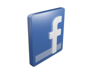 facebook icons and logos 3d model