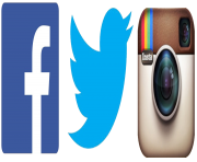 facebook twitter instagram clipart icon