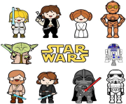 star wars clipart family