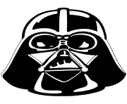 darth vader stencil star wars clipart