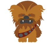 star wars wall stickers for kids chewbacca