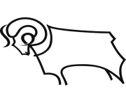 derby county fc football logo png