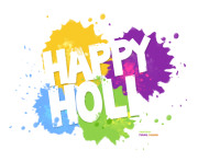 Happy Holi Text High Quality PNG