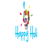 Happy Holi Text PNG Pic