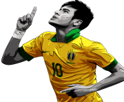 Neymar 10 Brazil drawing Png