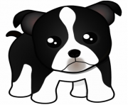 puppy dog face cartoon clipart