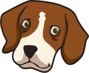 dog face clipart