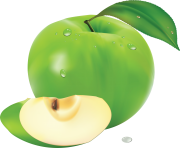 87 green apple png image