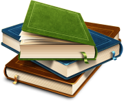 6 books png image with transparency background