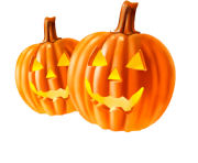 two pumpkins halloween png