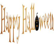 Happy Halloween with Pumpkin PNG Clipart Image