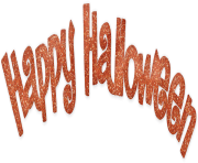 Happy Halloween Text Transparent PNG