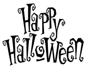 Happy Halloween Png black 6