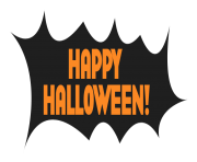 happy halloween black background transparent
