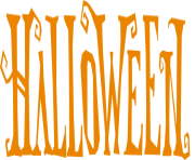 halloween text png