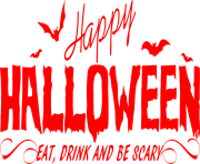 Happy Halloween Wall Red Png