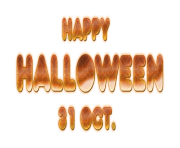Happy Halloween Text PNG Free Download