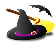 Graphics of halloween witches and sorceress clip art