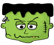 Halloween frankenstein clipart kid