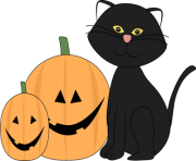 Jack o lantern halloween black cat and jack lantern clip art halloween black