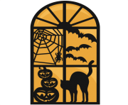 Large halloween window clip art
