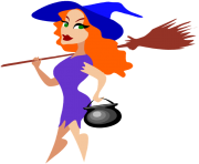 Free clipart of halloween witches 3