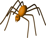 Halloween hanging spider clipart free clipart images 2