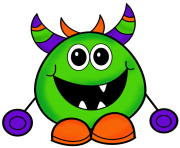 Halloween monster clipart free clipart images
