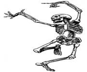 Vintage halloween clip art fancy skeleton man skeletons