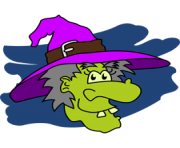 Free clipart of halloween witches 2