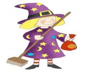 Fun halloween witch clipart kid