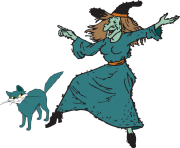 Fun halloween witch clipart kid 2
