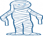 Halloween mummy clipart 5