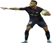 Neymar PSG 2017 with ball