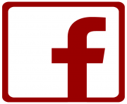 Facebook logo png red and white