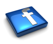 facebook logo glass 3d png hd