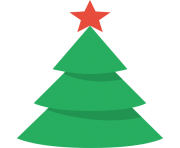 Christmas Tree PNG Flat Design