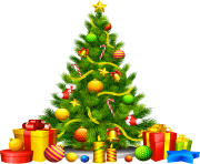 christmas tree png with gifts