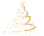 Gold Christmas Tree PNG Clip Art