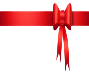 red christmas ribbon png clip art