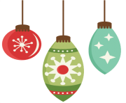 christmas flat design ornament set png min