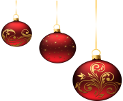 Christmas Red Balls Ornaments PNG min