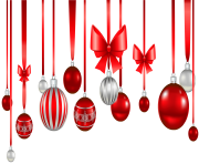 Christmas Ornament Red White Transparent Png min